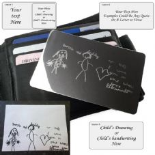 Engraved Stainless Steel Personalised Wallet Purse Keepsake Card
